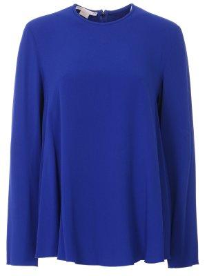 Расклешенная блуза Antonio Berardi. Цвет: синий