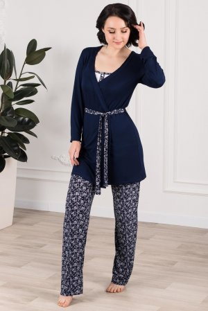Комплект тройка майка халат брюки Sharlize