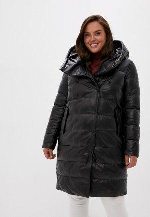 Куртка кожаная Снежная Королева CLM12LW20. Цвет: черный