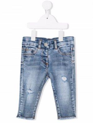 Узкие джинсы с заниженной талией Chiara Ferragni Kids. Цвет: синий