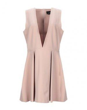 Короткое платье ATOS LOMBARDINI. Цвет: пастельно-розовый