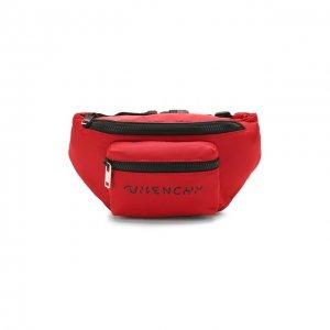 Текстильная поясная сумка Givenchy. Цвет: красный