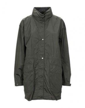 Легкое пальто GEOX. Цвет: темно-зеленый