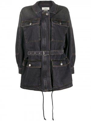 Джинсовая куртка с поясом Isabel Marant Étoile. Цвет: черный