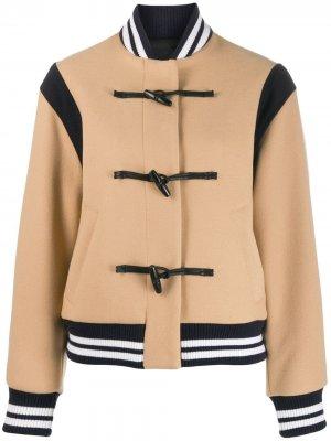 Куртка-бомбер с застежками тогл MSGM. Цвет: нейтральные цвета