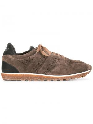 Кроссовки с панельным дизайном Alberto Fasciani. Цвет: коричневый