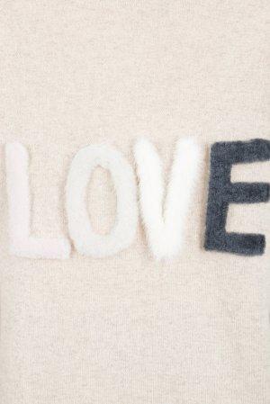 Трикотажный пуловер цвета нюд Max & Moi. Цвет: бежевый