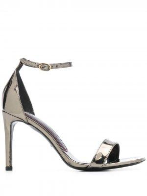 Босоножки на высоком каблуке с открытым носком Paul Smith. Цвет: черный