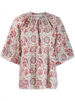 Блузка с цветочным узором Antik Batik. Цвет: красный