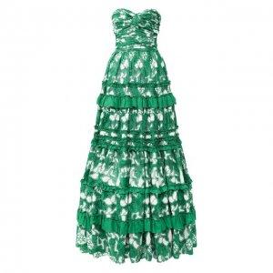 Платье-макси Alexis. Цвет: зелёный