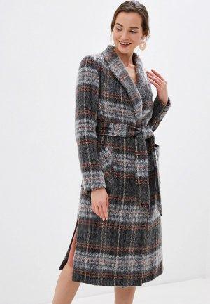 Пальто Argent. Цвет: серый