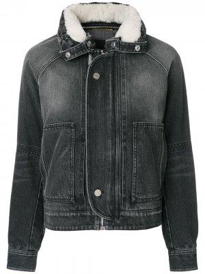 Приталенная джинсовая куртка Saint Laurent. Цвет: черный