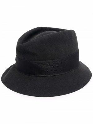 Шляпа с лентой Kiton. Цвет: черный