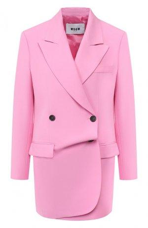 Шерстяной жакет MSGM. Цвет: розовый
