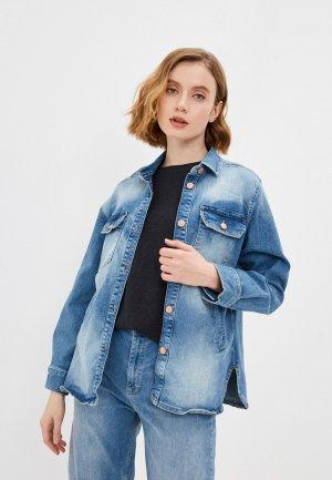 Куртка джинсовая Part Two. Цвет: синий