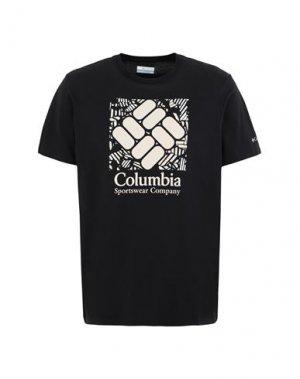 Футболка COLUMBIA. Цвет: черный