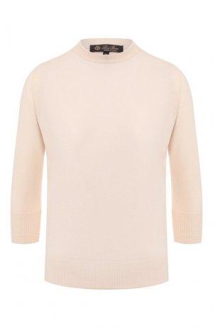 Кашемировый пуловер Loro Piana. Цвет: розовый