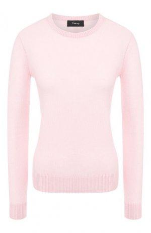 Кашемировый пуловер Theory. Цвет: розовый