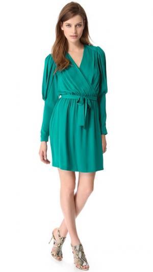 Платье с запахом Destiny Catherine Malandrino. Цвет: голубой