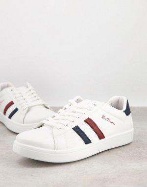 Белые кроссовки с полосками по бокам -Белый Ben Sherman