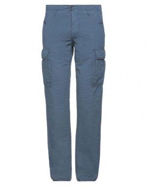 Повседневные брюки HTC. Цвет: грифельно-синий