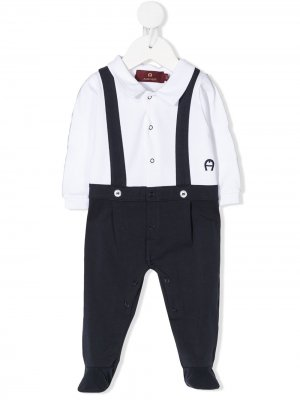 AIGNER KIDS 57971776 IVORY&NAVY Natural (Veg)->Cotton. Цвет: нейтральные цвета