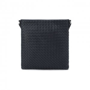 Кожаная сумка Bottega Veneta. Цвет: синий