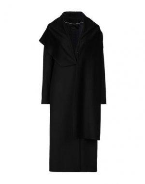 Пальто FABRIZIO LENZI. Цвет: черный