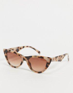 Черепаховые солнцезащитные очки кошачий глаз -Коричневый AJ Morgan