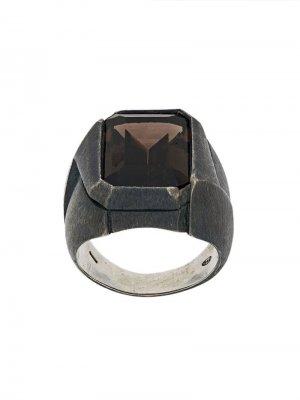 Перстень с камнем Nove25. Цвет: серый