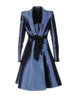 Легкое пальто BETTA CONTEMPORARY COUTURE. Цвет: синий