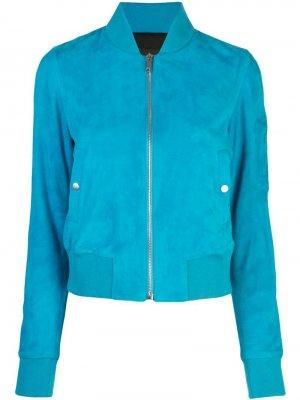 Куртка-бомбер Min Lth Jkt. Цвет: синий