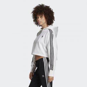 Укороченная худи Originals adidas. Цвет: белый