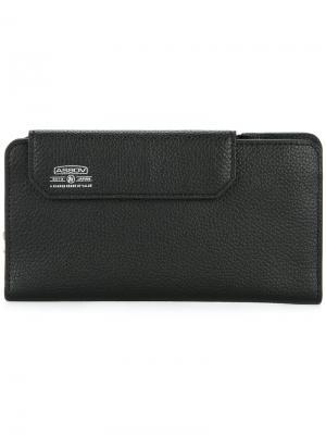 Удлиненный бумажник Shrink As2ov. Цвет: черный