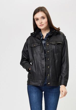 Куртка джинсовая DSHE. Цвет: черный