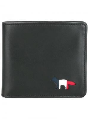 Классический бумажник Maison Kitsuné. Цвет: чёрный