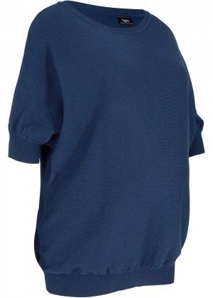 Пуловер для беременных bonprix. Цвет: синий