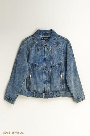 Джинсовая куртка-косуха LOVE REPUBLIC