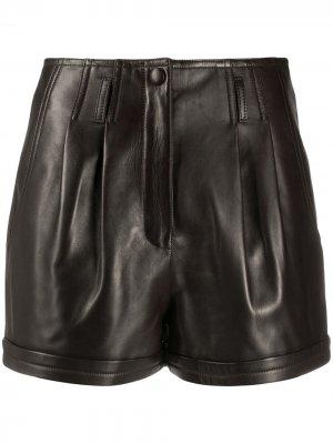 Pleat-detail shorts Saint Laurent. Цвет: коричневый