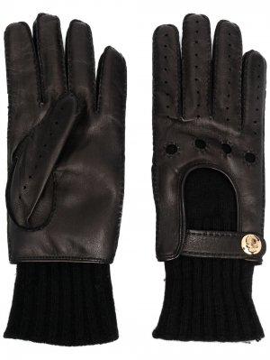 Перчатки с логотипом Billionaire. Цвет: черный