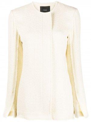 Твидовый пиджак Jerra Joseph. Цвет: нейтральные цвета