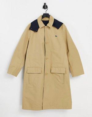 Двустороннее пальто-бушлат в стиле унисекс -Многоцветный Lacoste