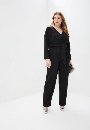Комбинезон LOST INK PLUS JUMPSUIT WITH TWIST WRAP. Цвет: черный