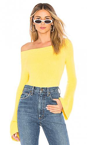 Пуловер westmont Lovers + Friends. Цвет: лимонный