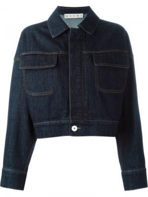 Укороченная джинсовая куртка Marni. Цвет: синий