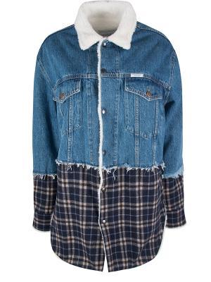 Джинсовая куртка с отделкой Forte Couture. Цвет: разноцветный