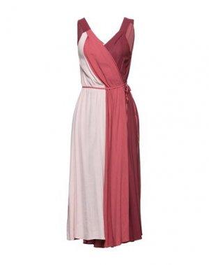 Платье до колена CARACTÈRE. Цвет: кирпично-красный