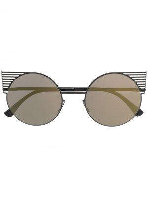 Солнцезащитные очки Studio 11 в оправе кошачий глаз Mykita. Цвет: черный