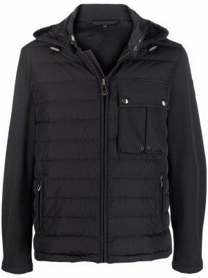 Hooded padded jacket Belstaff. Цвет: черный