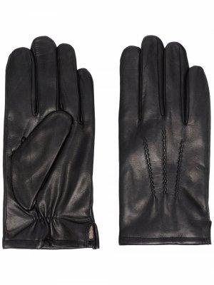 Перчатки с вышивкой Karl Lagerfeld. Цвет: черный